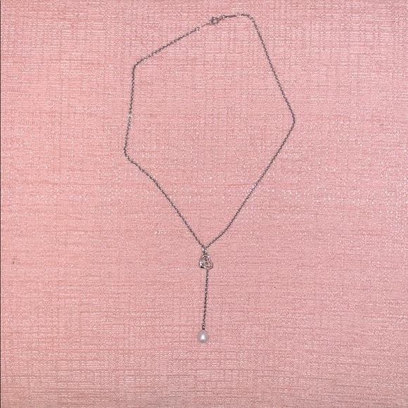 Tiffany & Co. Heart + Pearl Necklace